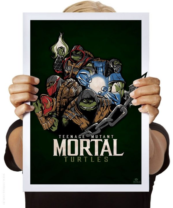 Poster Tartarugas Mortais