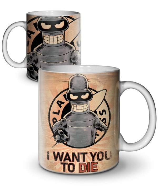 Caneca I Want You to Die