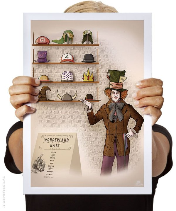 Poster Wonderland Hat Store