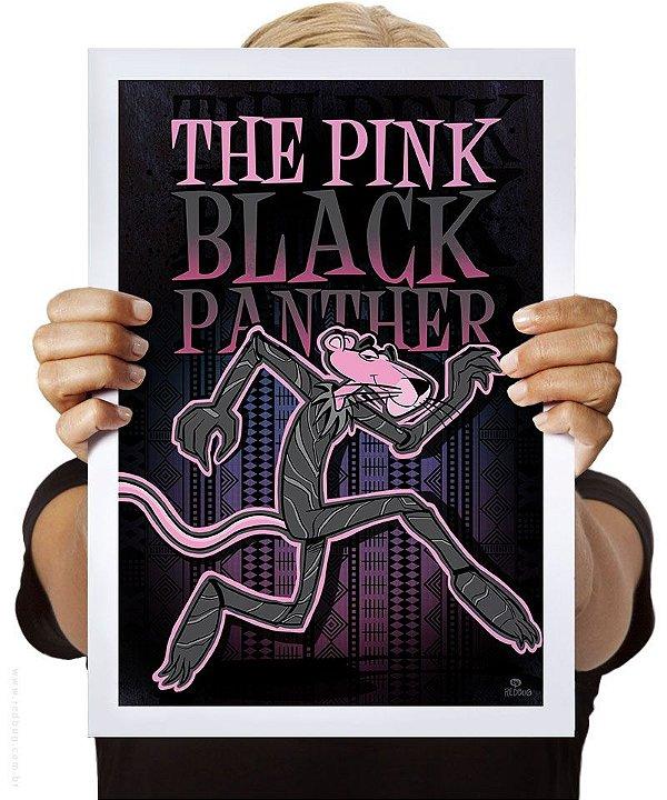 Poster Pink Black Panther