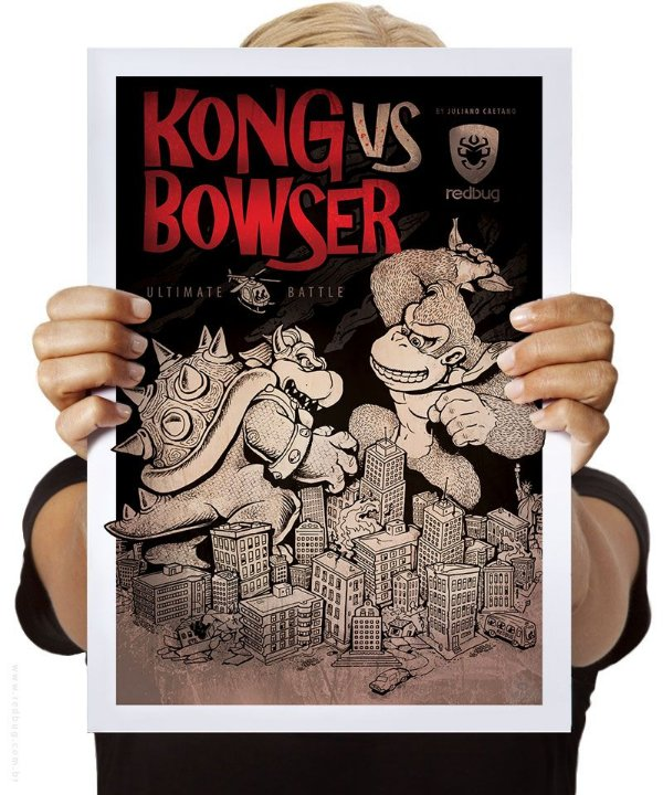 Poster Donkey vs Bowser