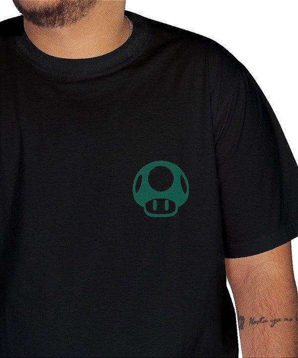 Camiseta Cogumelo Verde