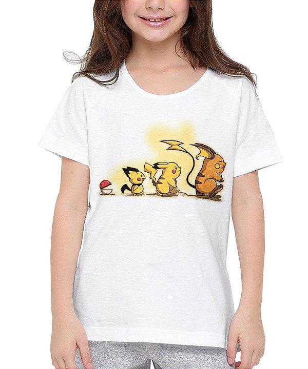 Camiseta Evolução Pokémon