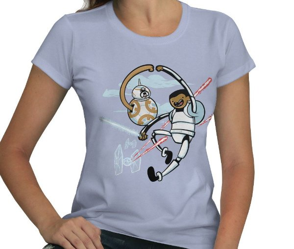 Camiseta Finn e BB-8