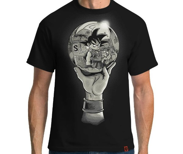 Camiseta Goku Escher