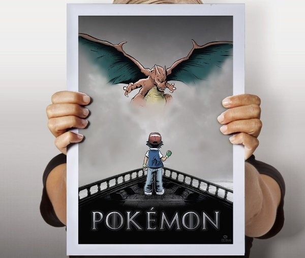 Poster Fire and Pokémon