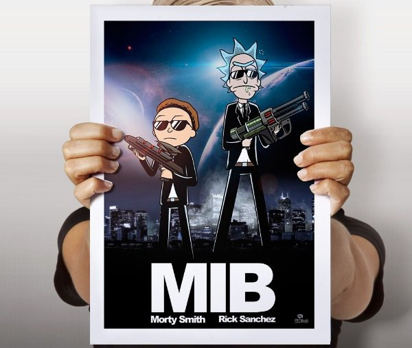 Poster Rick and Morty in Black