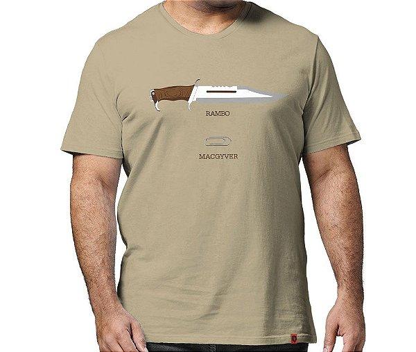 Camiseta Rambo x MacGyver