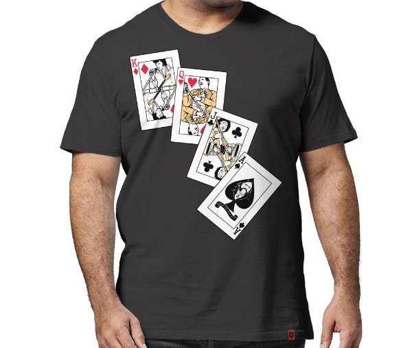 Camiseta Rock Cards