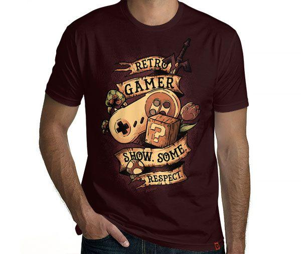 Camiseta Retro Gamer  
