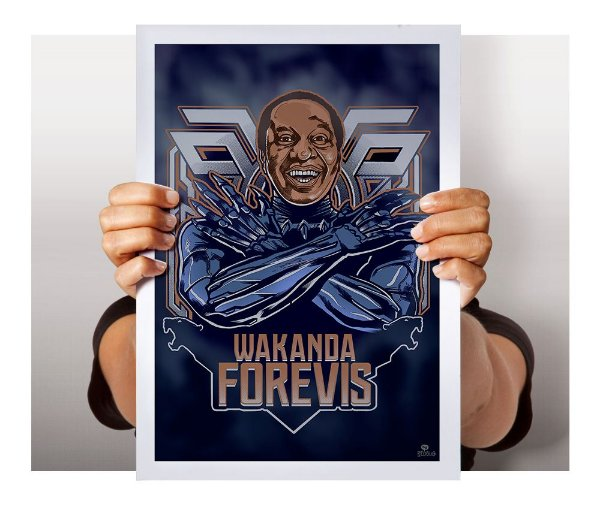 Poster Wakanda Forevis