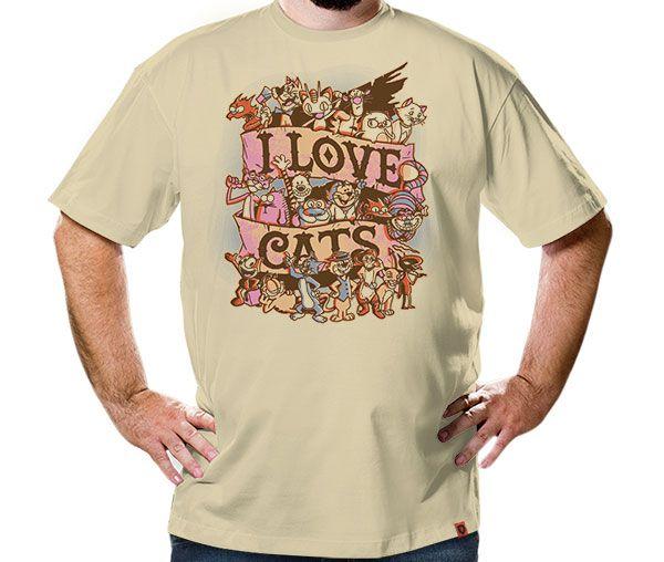 Camiseta I Love Cats