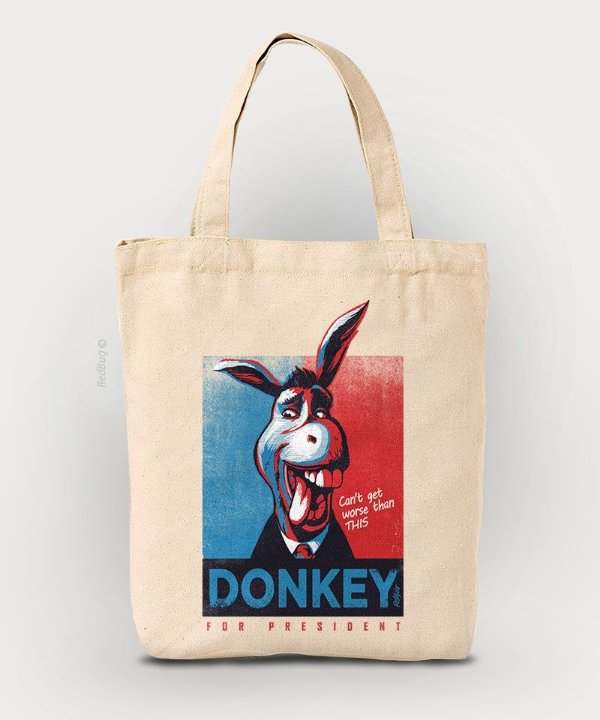 Ecobag Donkey For President