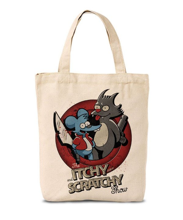 Ecobag Itchy and Scratchy