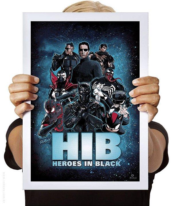 Poster Heroes in Black