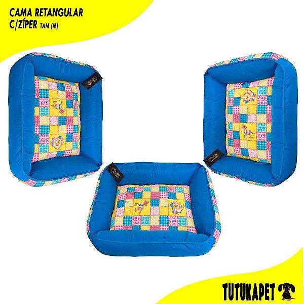 Cama Pet Retangular com Zíper - Tam (M)