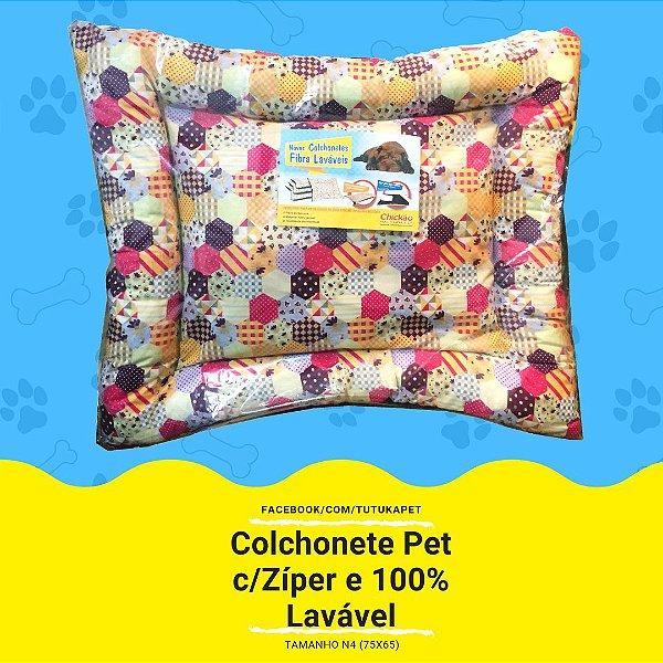 Colchonete Pet Espuma de Silicone c/Zíper 100% Lavável - Tam.N4