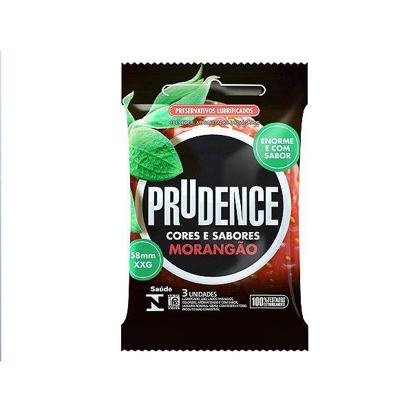 Preservativos Cores e Sabores Extra Grande Sabor Morango Prudence - Erótika Store