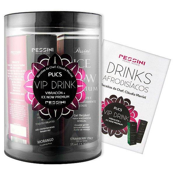 Plics Vip Drink Vibración + Ice Now Premium Pessini - Erótika Store