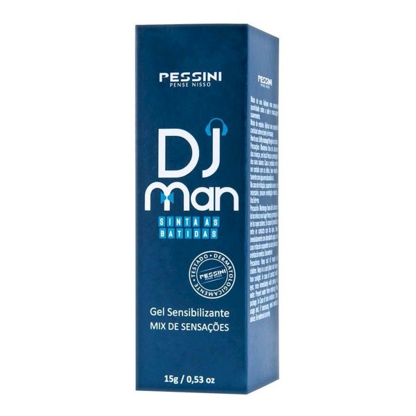 Dj Man Gel Excitante Masculino Pessini - Erótika Store