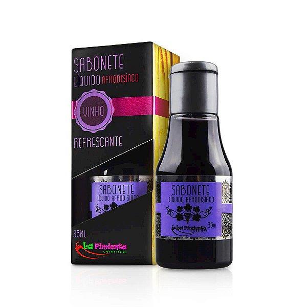 Sabonete Líquido Refrescante e Afrodisíaco com Aroma de Vinho - La Pimienta - Erótika Store
