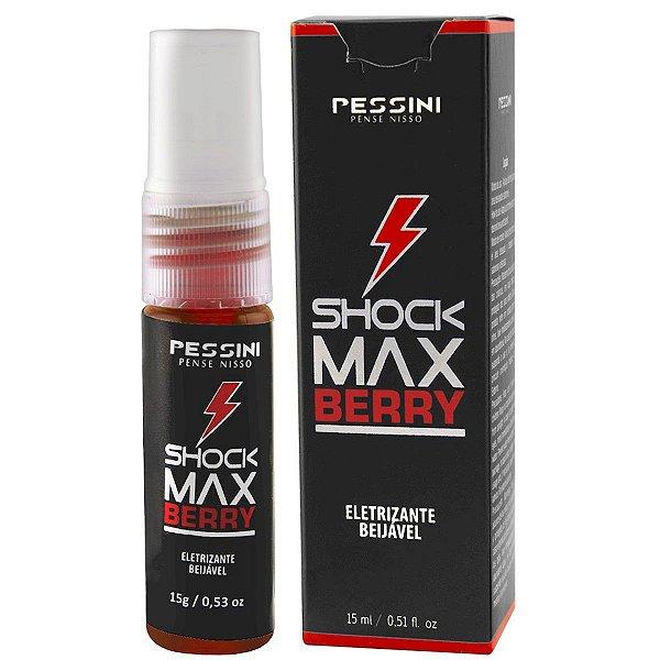 Shock Max Berry Sensações Eletrizantes Loção Spray Pessini - Erótika Store
