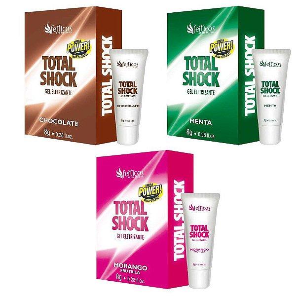 Total Shock Gel Eletrizante Chocolate 8g Feitiços Aromaticos - Erótika Store