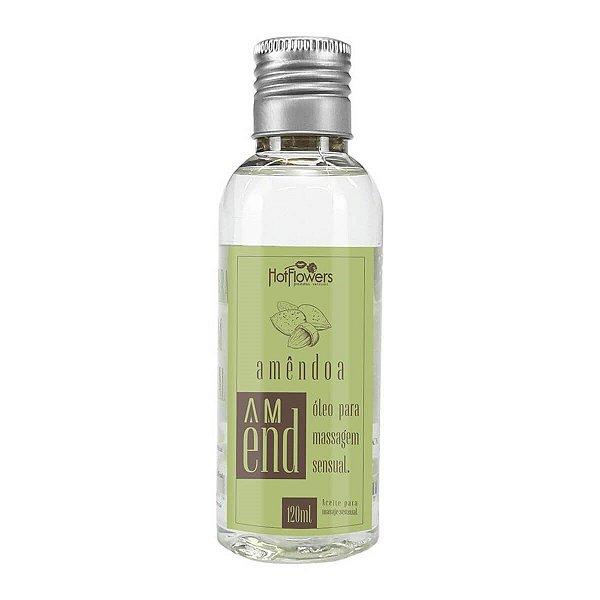 Óleo Para Massagem Sensual de Amêndoa 120ml Hot Flowers - Erótika Store
