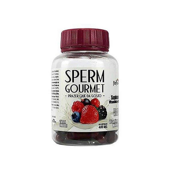 Sperm Gourmet Suplemento Vitamínico Mineral de Tutti Frutti 60 Cápsulas Hot Flowers - Erótika Store