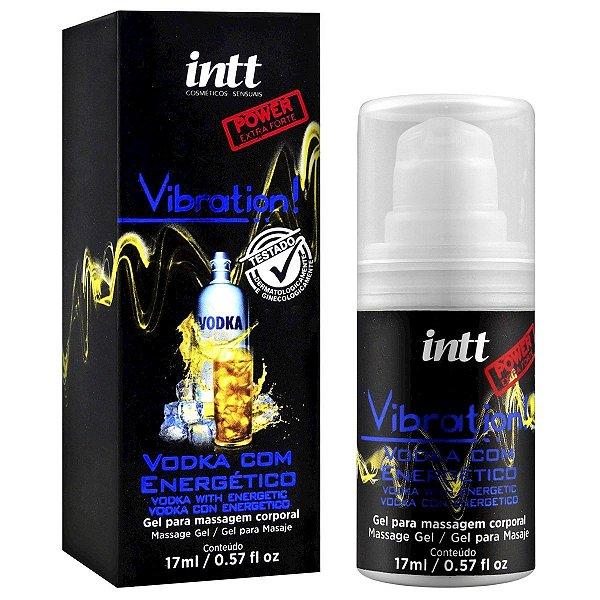 Vibration Gel Excitante que Vibra Power Extra Forte Sabor Vodka com Energético Intt - Erótika Store