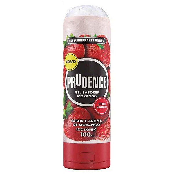 Gel Lubrificante Íntimo Sabor e Aroma de Morango Prudence - Erótika Store