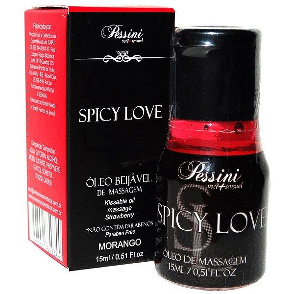Spicy Love Morango  Pessini - Erótika Store