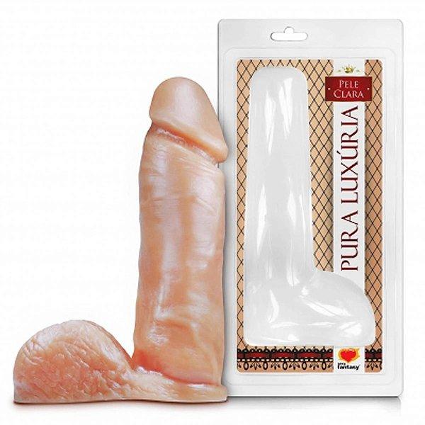 Prótese realistico com escroto pele 20 x 4,5CM Sexy Fantasy- Erotika Store