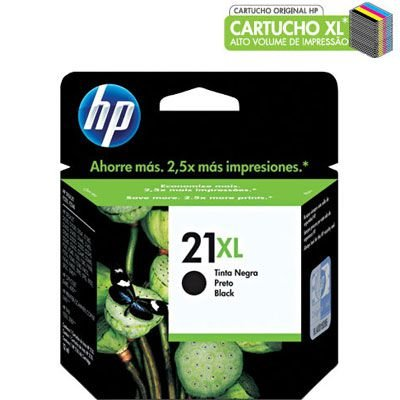 Cartucho HP 21XL preto 16ml C9351CB HP CX 1 UN