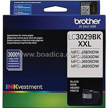 Cartucho preto de extra alto rendimento 3000 páginas (60ml), para impressoras MFC-J5830DW, J5930DW, J6535DW e J6935DW.