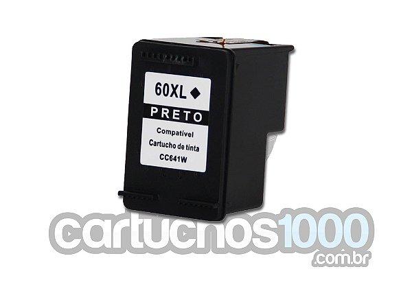 Cartucho de Tinta HP 60XL 60 CC641WB 641/ C4680 C4780 D1660 F4280 F4580 F4480/ Compatível/ Preto