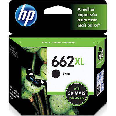 CARTUCHO DE TINTA HP 662XL 662 CZ105AB CZ105AL PRETO   ORIGINAL 6,5ML