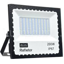 REFLETOR DE LED BIVOLT 200W COR BRANCO FRIO 6500K