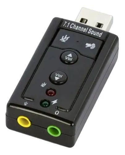 Adaptador De Placa De Som 7.1 Usb Conexão P2 Knup Hb-t64