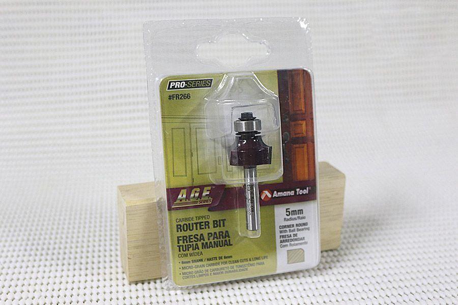 Fresa para Arredondar com Rolamento - R-5mm Amana Tool - [FR266]