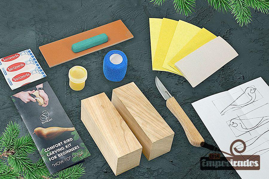 Kit de Entalhe Hobby e Iniciantes Pássaro DIY01 - Beavercraft