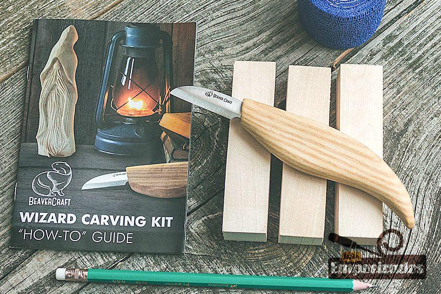 Kit de Entalhe Hobby e Iniciantes Mago DIY03 - Beavercraft