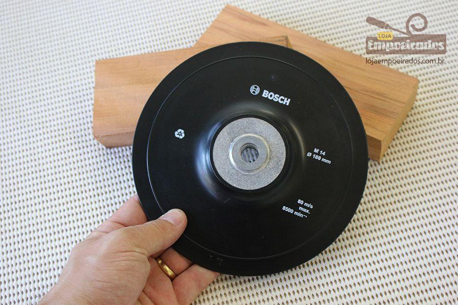 Kit Disco Borracha Suporte de Lixa 180mm M14 - Bosch