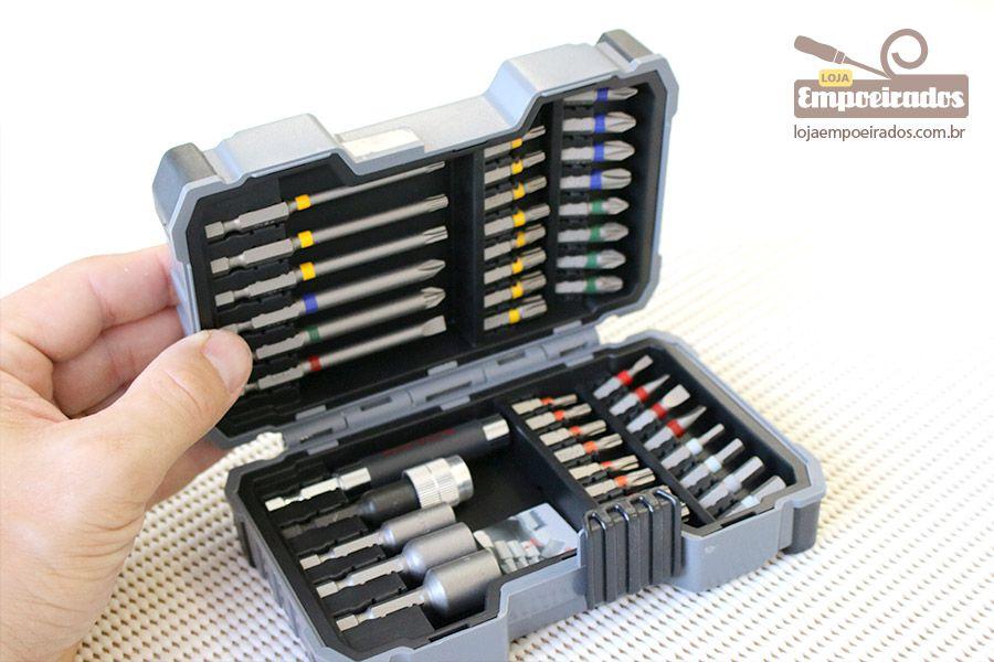 Jogo de pontas, bits e chaves com 43 peças - Bosch