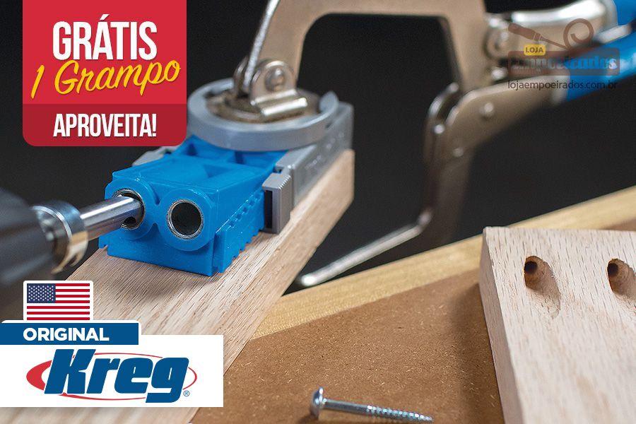 Kreg Jig R3 + Grampo 2 Polegadas Grátis - Kit Promocional