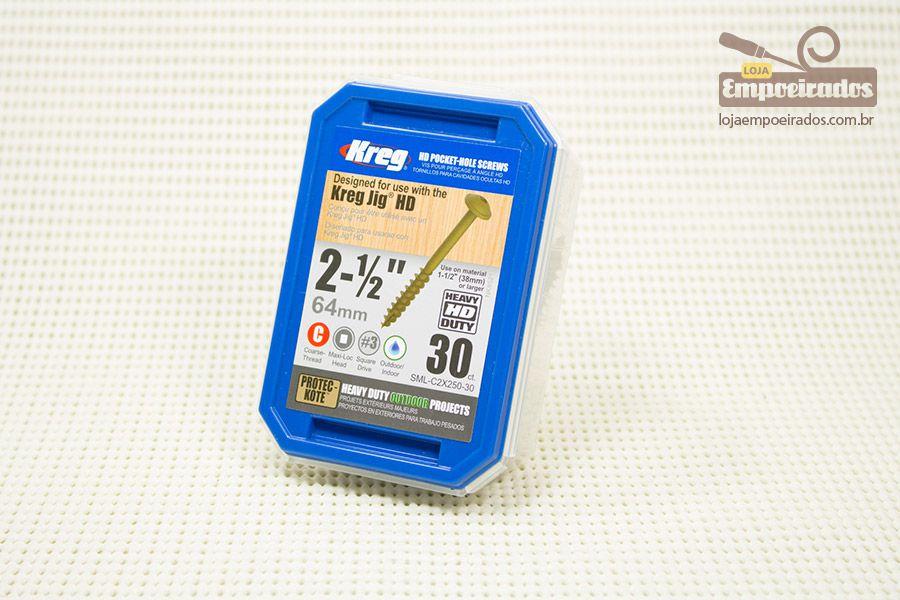 "Parafuso Kreg Rosca Grossa 2.1/2"" - 64mm - Uso exterior HD [SML-C2X250-30]"