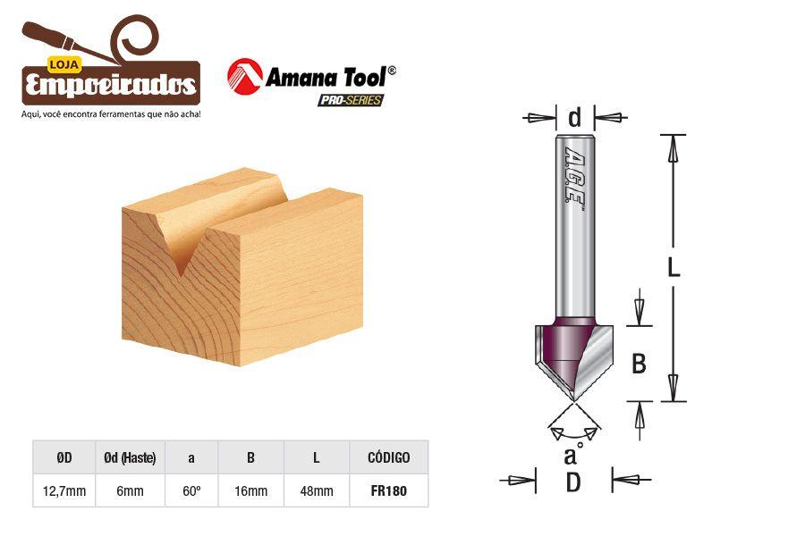 Fresa  V-Groove 60º AGE™ Pro-Series Amana Tool [FR180]