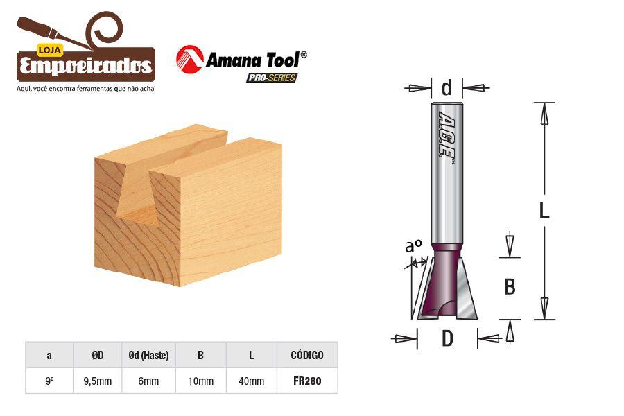 Fresa AGE™ Pro-Series Amana Tool - Rabo de Andorinha 9º [FR280]