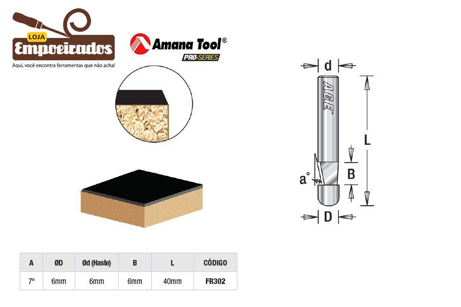 Fresa AGE™ Pro-Series Amana Tool - Piloto para Laminados 7º [FR302]