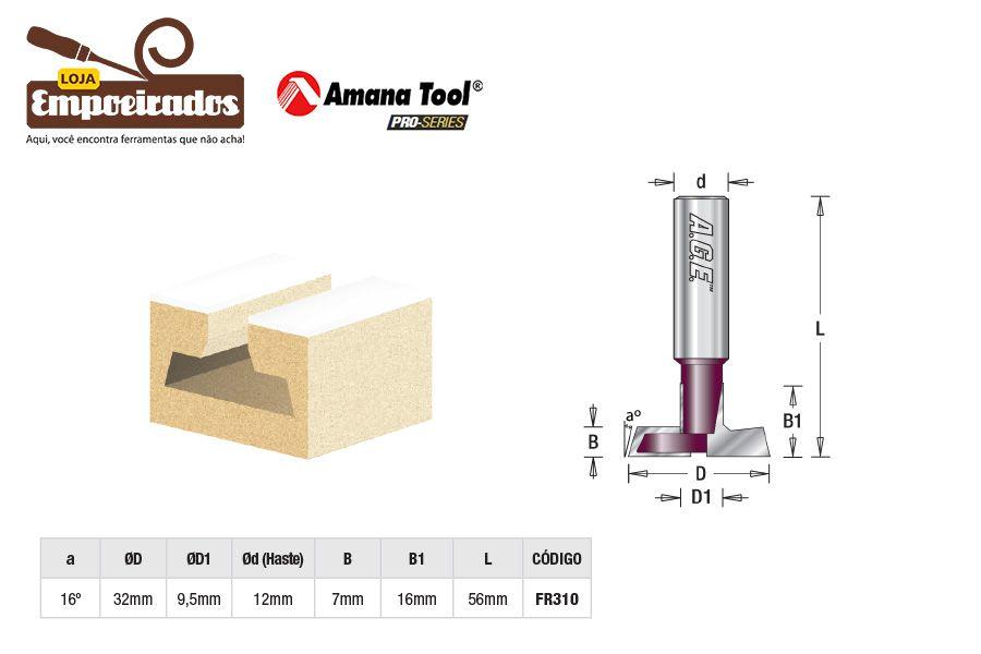 Fresa AGE™ Pro-Series Amana Tool - Painel Canaletado 16 x 32mm [FR310]